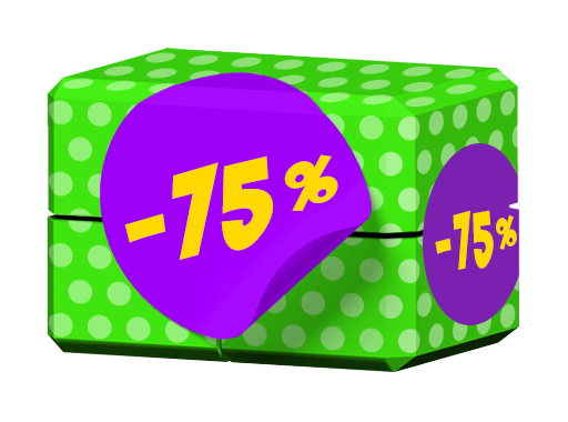 -75 % 🍇