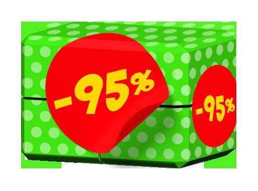 🍎 -95 %